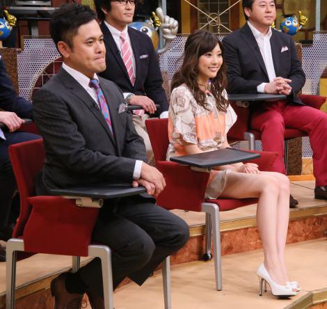 『世界一受けたい授業』でミニスカ姿を披露した山岸舞彩(C)日本テレビ