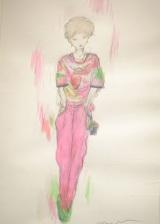 天野喜孝氏によるボーカロイドYUUのイラスト (C)ORICON NewS inc.