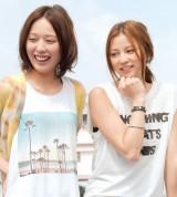 月9ドラマ『SUMMER NUDE』に出演する戸田恵梨香(左)と香里奈 (C)ORICON NewS inc.