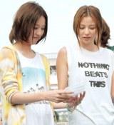月9ドラマ『SUMMER NUDE』記者発表会に出席した(左から)戸田恵梨香&香里奈 (C)ORICON NewS inc.