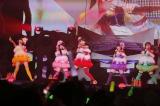 ももいろクローバーZのアルバムツアー初日で3ヶ月半ぶりに歌唱を再開した有安杏果(右端) Photo by hajime kamiiisaka