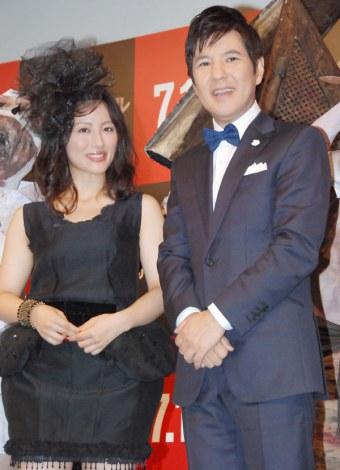 映画『サイレントヒル リベレーション3D』ジャパンプレミアに出席した(左から)福田彩乃、関根勤 (C)ORICON NewS inc.
