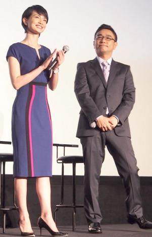 (左から)長谷川京子、八嶋智人=ドラマ『Oh, My Dad!!』舞台あいさつ (C)ORICON NewS inc.