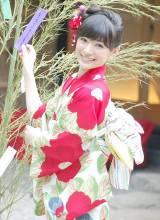 一足早い七夕イベントで浴衣姿を披露した優希美青 (C)ORICON NewS inc.