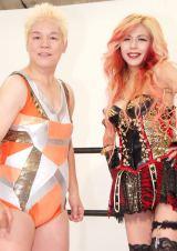 SHOW-YAの新曲「V.S.MYSELF」ミュージックビデオ撮影を行った(左から)神取忍と寺田恵子 (C)ORICON NewS inc.