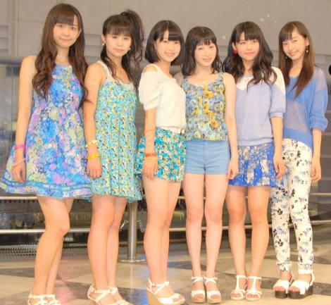 メジャーデビューが発表されたJuice=Juice(左から)宮崎由加、高木紗友希、大塚愛菜、宮本佳林、金澤朋子、植村あかり (C)ORICON NewS inc.