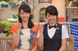 『スイッチ!』スタジオで決めポーズ! (左から)本仮屋ユイカ、本仮屋リイナ(東海テレビアナウンサー)(C)東海テレビ