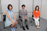 ABC・テレビ朝日系『熱闘甲子園』のキャスターを務める工藤公康(中央)、長島三奈(右)、竹内由恵(左)