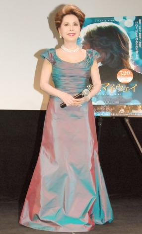 映画『最後のマイ・ウェイ』試写会イベントに出席したデヴィ夫人 (C)ORICON NewS inc.