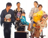 (左から)福士蒼汰、KENCHI(EXILE)、五十嵐陽向くん、小池栄子、広末涼子=ドラマ『スターマン・この星の恋』制作発表会見 (C)ORICON NewS inc.