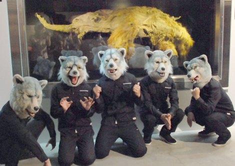 マンモス 「YUKA」と対面したオオカミバンド・MAN WITH A MISSION=『特別展 マンモスYUKA』 (C)ORICON NewS inc.