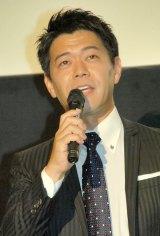 『生贄のジレンマ』の舞台あいさつでMCを務めた長谷川豊アナ (C)ORICON NewS inc.