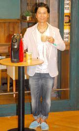 『ドリカムアイスコーヒーカフェ featuring バリスタ』のオープニングイベントに出席したDREAMS COME TRUE・中村正人 (C)ORICON NewS inc.