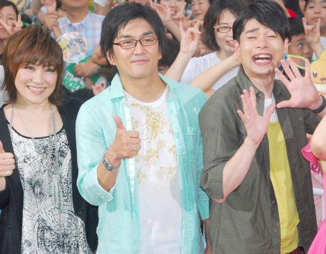 (左から)松本梨香、平成ノブシコブシの徳井健太、吉村崇 (C)ORICON NewS inc.