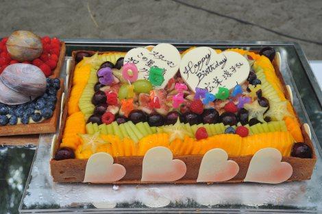 7月18日生まれの広末涼子の誕生日をケーキで祝福(C)関西テレビ