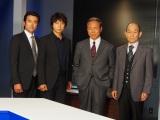(左から)石黒賢、上川隆也、小林稔侍、笹野高史 (C)ORICON NewS inc.