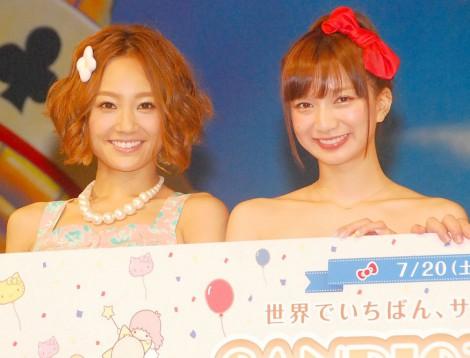 『サンリオタウン』オープンプレイベントに出席した(左から)千紗、芹那 (C)ORICON NewS inc.