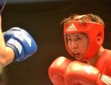 1度敗北した相手に挑むしずちゃん=『第1回女子アマチュアボクシング大会チャレンジマッチ』の模様 (C)ORICON NewS inc.