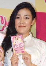 メイクアップで変身したたんぽぽ・白鳥久美子=『AAA伊藤千晃プロデュース Charming Kiss発売記念プレス発表会』 (C)ORICON NewS inc.