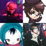 『ボーカロイド歌謡祭 2013(夏)〜Voca CX Night〜』出演ボカロP(左上から) DJ'TEKINA//SOMETHING、かめりあ (左下から) きくお、八王子P