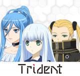 3人組ユニット「Trident 」結成(左から)タカオ(CV:沼倉愛美)、イオナ(CV:渕上舞)、ハルナ(CV:山村響)(C) Ark Performance/少年画報社・アルペジオパートナーズ