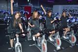 日本2号店『FEEL CYCLE Ikebukuro』のオープンに先駆け、新感覚バイクエクササイズを体験した7cmの(左から)伊東愛、梅田悠、加藤雅美、KONAN (C)oricon ME inc.