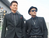 『a-nation island』オープニングセレモニーに登場した三代目J Soul Brothersの(左から)今市隆二とELLY (C)ORICON NewS inc.