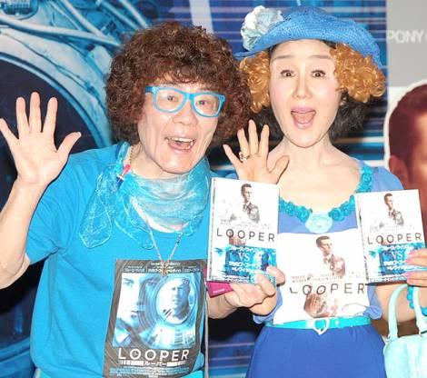 映画『LOOPER/ルーパー』ブルーレイ&DVD発売記念イベントに出席した(左から)林家ペー、林家パー子 (C)ORICON NewS inc.