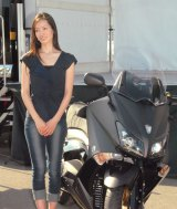 『THINK BIKE〜8月19日はバイクの日 スマイル・オン2013〜』のトークショーに出席した荒川静香 (C)ORICON NewS inc.
