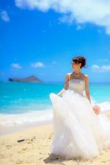 ハワイで挙式した大堀恵