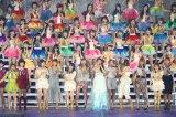 秋元才加卒業セレモニーの模様=AKB48東京ドーム4日連続公演初日(C)AKS