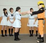 NARUTOとの対面に感涙する生駒里奈=『NARUTO‐ナルト‐疾風伝』主題歌発表会見 (C)ORICON NewS inc.