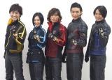 (写真左から)山本康平、長澤奈央、塩谷瞬、白川裕二郎、姜暢雄 (C)ORICON NewS inc.