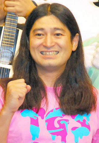 妻と「絶対別れません!」と力説したハイキングウォーキング・鈴木Q太郎=『TOKYO GAME SHOW 2013 × よしもと』コラボレーションプロジェクト発表会見 (C)ORICON NewS inc.