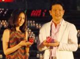 """スポーツのチカラproject『""""2020の願い""""キャンドルナイト〜We Believe TOKYO 2020』に出席した(左から)長谷川理恵、別所哲也 (C)ORICON NewS inc."""