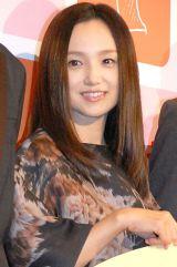 第2子出産後初の公の場に登場した永作博美 (C)ORICON NewS inc.