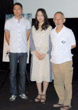 (左から)西村義明プロデューサー、朝倉あき、鈴木敏夫プロデューサー (C)ORICON NewS inc.