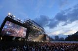 横浜・赤レンガパーク野外特設会場で16年ぶりの単独野外ライブを開いた(撮影:上飯坂一)