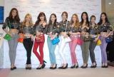 自慢の美脚を披露した少女時代(左から)スヨン、ヒョヨン、ティファニー、テヨン、ユナ、ジェシカ、ユリ、サニー、ソヒョン (C)ORICON NewS inc.