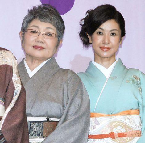 映画『おしん』の完成披露試写会に出席した(左から)泉ピン子、小林綾子 (C)ORICON NewS inc.