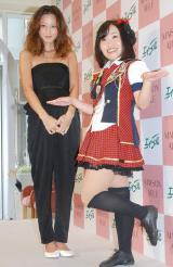 妊娠7ヶ月の西山茉希(左)とキンタロー。 (C)ORICON NewS inc.