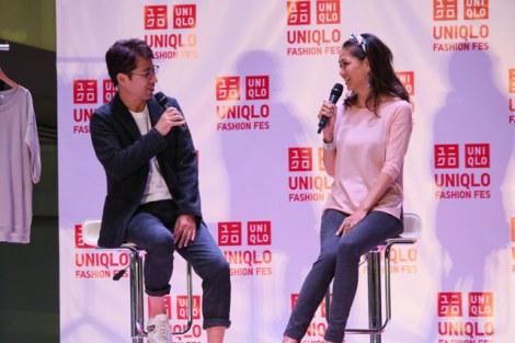 21日〜23日、東京・表参道で開催されたユニクロのファッションイベント『UNIQLO FASHION FES』に登場した前田典子