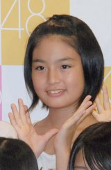 冨田圭乃(とみた よしの)中1・13歳 目標:高橋みなみ 「誰よりも明るい笑顔で頑張ります」