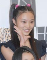 """水田晶(みずた あきら)高1・16歳 目標:板野友美 「名前が""""あきら""""なので、きらきら笑顔で頑張ります」"""