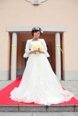 美奈子が花嫁姿を披露