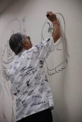 小学館ビルに『オバケのQ太郎』を描く藤子不二雄A氏