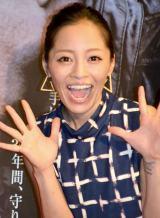 小森純、復活だニャー!=映画『ランナウェイ/逃亡者』イベント (C)ORICON NewS inc.