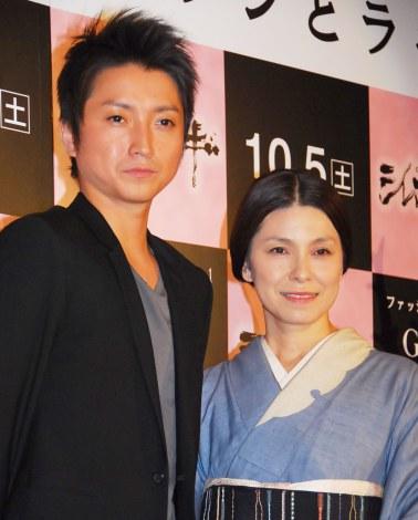 映画『シレンとラギ』試写会前トークイベントに出席した(左から)藤原竜也、高田聖子 (C)ORICON NewS inc.