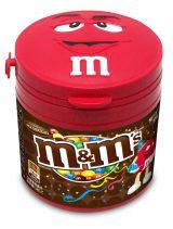ボトルのフタが「レッド」の顔になっているクリスマス限定『M&M'S ホリデイボトル ミルクチョコレート』