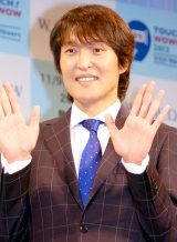 『TOUCH! WOWOW2013』記者発表会に出席した司会の千原ジュニア (C)ORICON NewS inc.